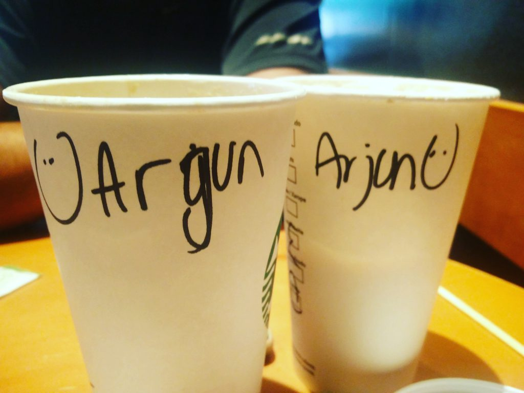 A Starbucks barista's tryst with my name