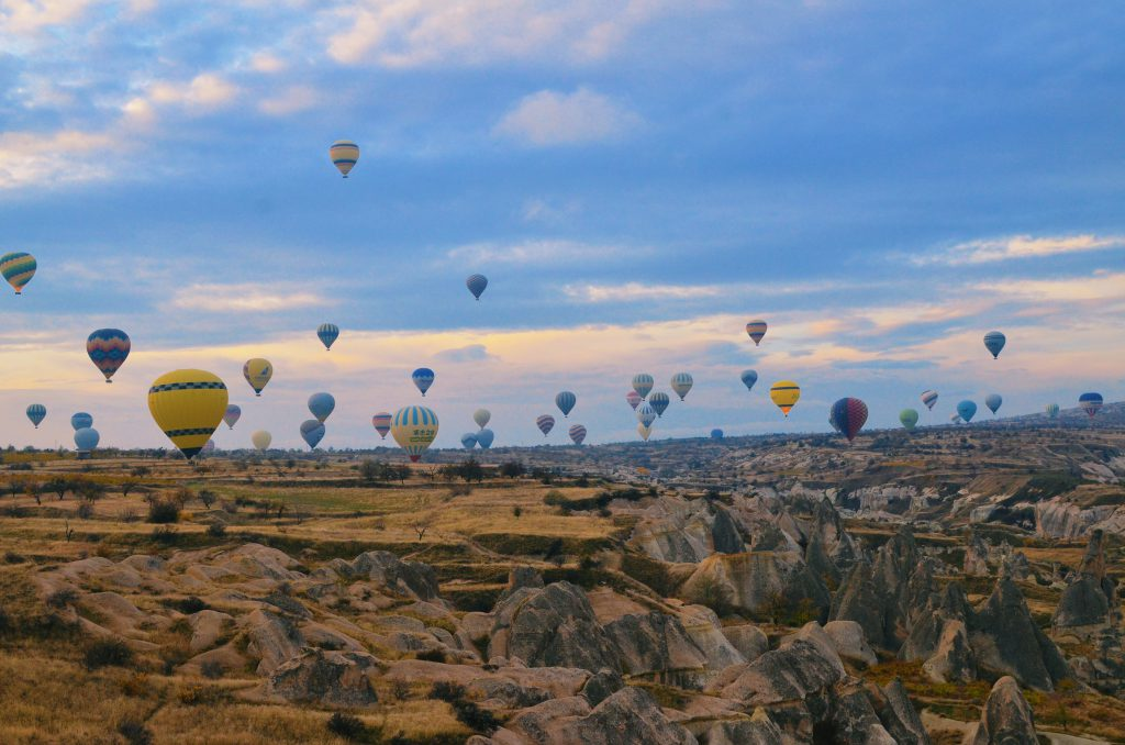 Hot air balloons over Kapadokya