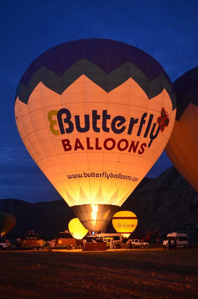 Another balloon by Butterfly Balloons, almost ready to go